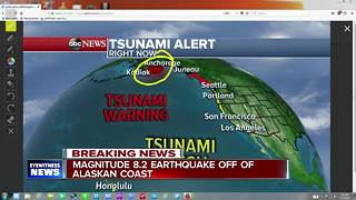 Tsunami Alert in Alaska - Video