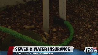 city suggests water and sewer insurance for homeowners
