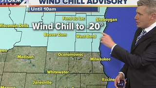 Wind Chill Advisory for parts of the area Friday - Video