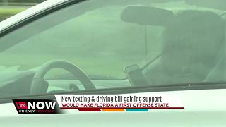 New texting and driving bill gaining support - Video