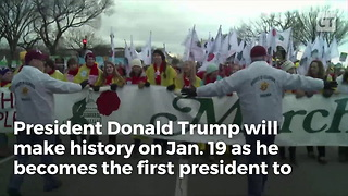 President Trump Makes History, 1st President To Address March For Life - Video