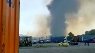 Smoke Seen Rising from Site Where Military Transport Plane Crashed near Savannah Airport - Video