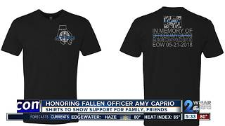 Shirts to honor fallen officer Amy Caprio; support family and friends - Video