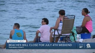 Palm Beach County beaches will be closed July Fourth weekend, Mayor Kerner says