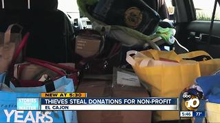 Thieves steal donations for non-profit - Video