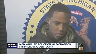 Man charged for wild Detroit police chase down I-75 - Video
