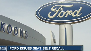 Ford issues seat belt recall - Video