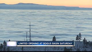 Limited opening at Bogus Basin Saturday, temperature inversion keeping ski area warm and dry - Video