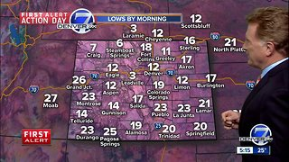 First Alert Action Day: Record cold temperatures in the Front Range