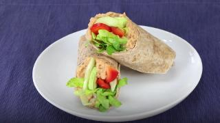 White Bean Hummus Wraps with Avocado & Bell Peppers - Video
