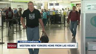 Travelers return to WNY from Las Vegas after shooting - Video