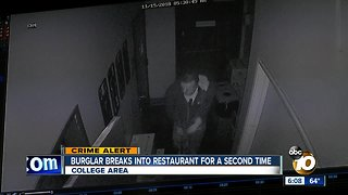 Burglar breaks into popular restaurant - again - Video