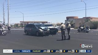 Police officer injured in crash Monday - Video