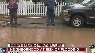 Neighborhood at risk of flooding - Video