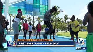 """Family Field Day"" held in Riviera Beach"