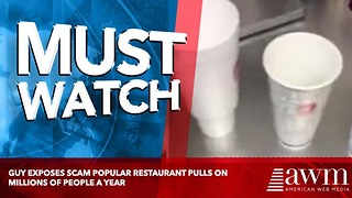 Guy Exposes Scam Popular Restaurant Pulls On Millions Of People A Year - Video