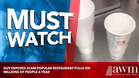 Guy Exposes Scam Popular Restaurant Pulls On Millions Of People A Year