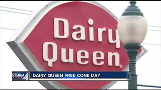 Dairy Queen gives out free cones Tuesday - Video