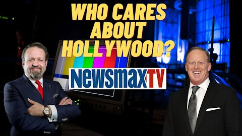 Who cares about Hollywood? Sebastian Gorka with Sean Spicer on Newsmax
