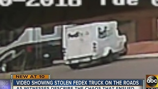 FedEx truck tracked down after it was stolen in Glendale - Video