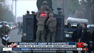 Interagency sweep goes after local gang members - Video