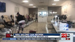 State officials say nail salons can reopen in Kern County