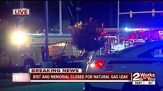 tulsa intersection closes after gas line break
