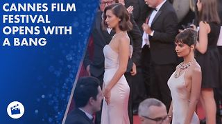 Bella Hadid & more celebs bring the glitz to Cannes - Video
