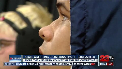 Local wrestlers open up state championships at Mechanics Bank Arena
