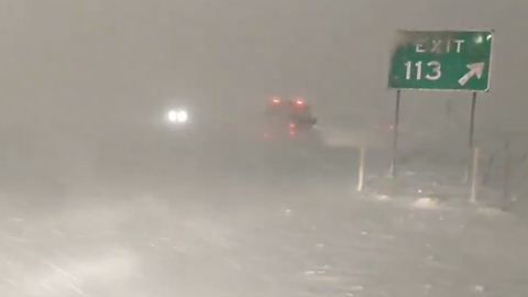 Whiteout Conditions Blanket Traffic on I-80 in Salt Lake City