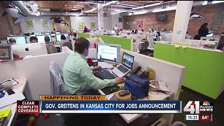 Gov. Greitens makes jobs announcement in KC area - Video