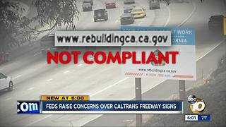 Feds raise concerns over Caltrans freeway signs