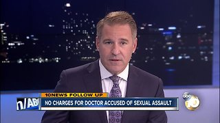 No charges for doctor accused of sexual assault