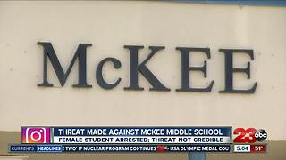 McKee student arrested for making school threat