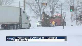 Northern counties hit hardest by snowfall