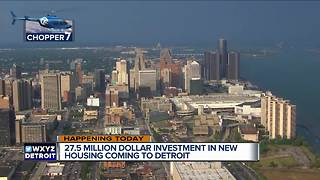 Group investing $27.5 million in new housing for Detroit neighborhoods - Video