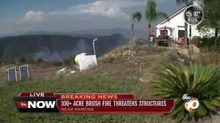 Community almost evacuated due to Rangeland Fire - Video