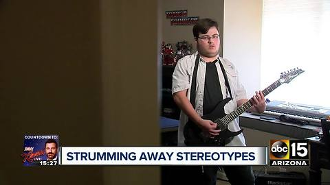 Glendale student with autism rocks national anthem performance