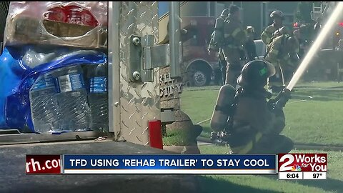 TFD using rehab trailer to stay cool on scenes
