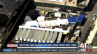 Doctors, nurses return home from New York
