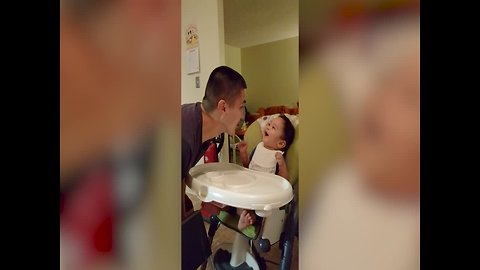 Baby Cracks Up Over Dad's Silly Antics