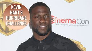 Kevin Hart starts his own Hurricane Harvey Challenge - Video