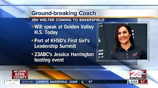 Dr. Jen Welter, first female NFL coach, speaking in Bakersfield today - Video