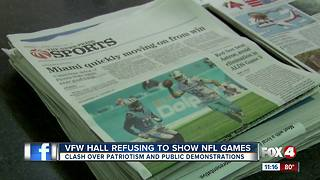 VFW banning all NFL games due to anthem protests - Video