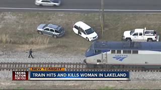 Deputies investigate after woman hit, killed by Amtrak train in Lakeland - Video