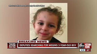 Desperate search for missing 3-year-old continues