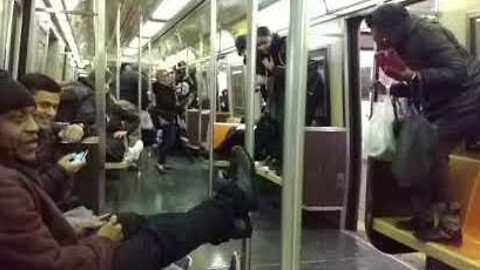Rat Joins Commuters on New York City Subway
