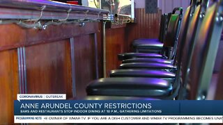 No indoor dining in AA County after 10 p.m., new social gathering restrictions
