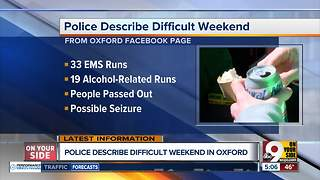 Oxford Police describe difficult weekend - Video