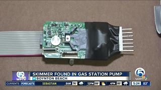 Skimmer found at Boynton Beach gas station - Video
